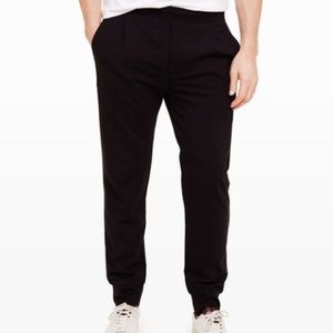 Club Monaco Black Ponte Zippered Sweatpants